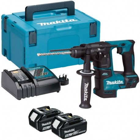 Pack Perforateur Makita 18v 5Ah, 1.2 Joules : deux batteries + un chargeur